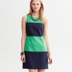 Banana Republic Blue Green Color Block Dress
